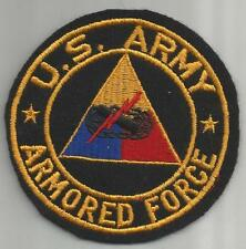 "WW 2 United States Army Armored Force 4"" Jacket Patch Inv# 211"