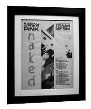 KISSING THE PINK+Naked+TOUR+POSTER+AD+RARE ORIGINAL 1983+FRAMED+FAST GLOBAL SHIP