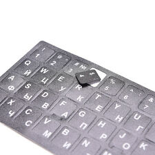 Hot Durable Black With White Letters Russian Keyboard Sticker Standard Layout CA
