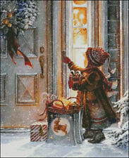 Needlework Crafts Full Embroidery Counted Cross Stitch Kits 14 ct Christmas Boy