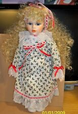 Christmas Doll, Long blonde Hair.