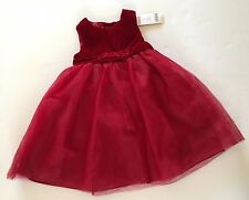 NWT Gymboree Holiday Celebrations 3 3T Red Velvet Rosette Tulle Holiday Dress