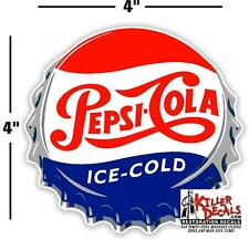 """(PC-221) 4"""" PEPSI CAP  ICE COLD SODA POP VENDING MACHINE COOLER OR GUMBALL"""