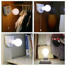 Stick Up Bulb Cordless Battery Operated Light Cabinet Closet Lamp Home Use #E