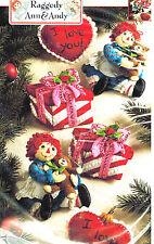 Bucilla Raggedy Ann Christmas Morning Felt Ornament Kit 6 pc Teddy Bear 86244