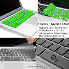 "Green Clear Silicone Keyboard Skin Cover For Macbook Pro Retina&Air 13"" 15"" 17"""