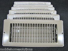 "Mobile Home RV Parts. Floor Register 4"" x 8"". Brown Metal Floor Vent.  Lot of 6"
