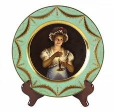 Royal Vienna Porcelain Cabinet Plate Good Night, Signed Wagner c1900