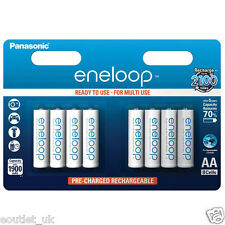 8 x  Panasonic Eneloop 1900mAh AA Rechargeable Batteries NiMh NEW