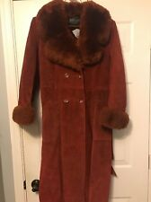 Women's Suede Vintage Suede Leather Belted Trench Coat  A&F Originals