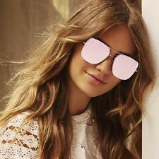"NEW QUAY AUSTRALIA Pink ""STOP AND STARE"" Oversized Sunglasses -SALE"