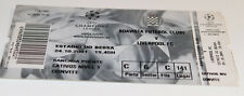 Ticket for collectors CL Boavista Porto Liverpool FC 2001 Portugal England