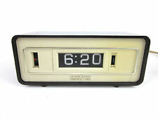 vtg GE General Electric Alarm Clock Mechanical Digital Retro Flip Mid Century