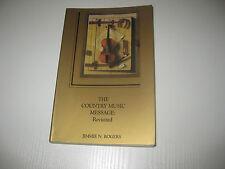 Country Music Message von Jimmie N. Rogers (1989, Taschenbuch)