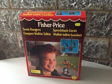 1987 Fisher Price#Sonic Rangers Electronic Walkie Talkie Nrfb#Nib Rare