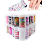 1pc Nail Art Transfer Wrap Foil Galaxy Sticker Glitter Tip Decal Decoration 1-36