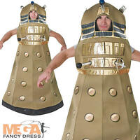 Dalek Adults Doctor Who Fancy Dress Sci Fi Robot Womens Mens BBC Costume Outfit