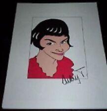 AUDREY TAUTOU Da Vinci Code, Coco Avant Chanel Signed 8.5x11 Cartoon Autograph