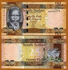 South Sudan, 25 Pounds, 2011, P-8, UNC