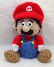 KNITTING PATTERN - Mario the Super Plumber chocolate orange cover or 15 cms toy