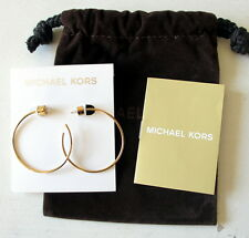 NWT MICHAEL KORS CITYSCAPE CHAINS Gold-Tone Slender Hoop Earrings MKJ4828 NEW