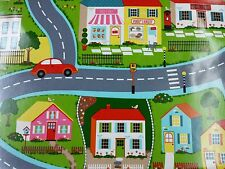Clarke and Clarke PVC Roadmap Multi Childrens Tablecloth Table Covering Fabric