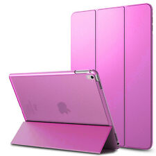 For iPad Air 2 6th Slim Leather Stand Smart Case Clear Back Cover with Magnetic