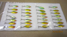 28 NEW  Ice Fishing Jigs 'Sider' 20mm Triple Hook # 13 Assorted Colors