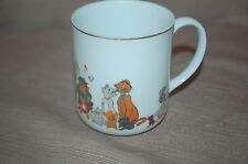 Vintage Walt Disney Productions Aristocats Coffee/Mug w/Gold Rim