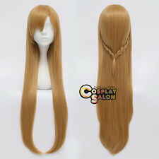 Sword Art Online Anime Cosplay Asuna Yuuki Long Brown Wavy Wig Halloween Gift