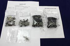 BLACK COMPLETE FAIRING BOLTS FASTENER Clips SCREWS KIT Kawasaki Ninja ZX6R 07-08