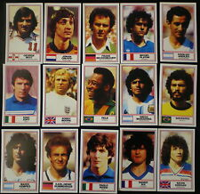 Rothmans Football CIGARETTE CARDS Set BEST PELE CRUYFF KEEGAN ZOFF PLATINI KALTZ