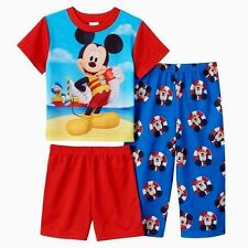 NWT Boys 4T Mickey Mouse Pajamas DISNEY $32 Deluxe Toddler Spring Summer Shirt
