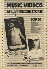 31/12/83PN14 ADVERT: PHIL COLLINS MUSIC VIDEOS ATVIRGIN RECORD STORES NOW