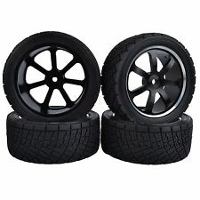 80mm Tyres RC 1/10 On-Road Rally Car Tires Metal Wheel Rim HPI-WR8 HSP94177