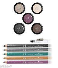 e.l.f. Essential 5 Piece Single Eye Shadow w/Shimmer Eyeliner Pencil SET NEW