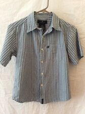 Kenneth Cole Reaction Short Sleeve Boy's Shirt ~ Small (8-10)~ Gray Stripes