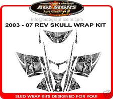SKULL SLED WRAP  for SKI-DOO REV 03-07  mxz decal graphic