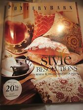 POTTERY BARN CATALOG JANUARY 2013 STYLE RESOLUTIONS BRAND NEW