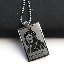 Fashion Hip-Hop Style Necklace Pendants For Men Boys Figure BOB MARLEY Jewelry