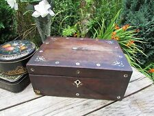 ANTIQUE JEWELLERY SEWING BOX. VICTORIAN JEWELLERY CASE