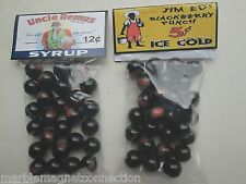 2 BAGS OF UNCLE REMUS JIM ED'S BLACKBERRY PUNCH PROMO MARBLES