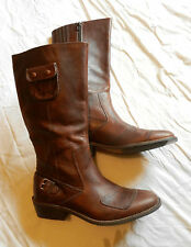 Pair of Brown Leather Caterpillar Boots - Legendary Raw Collection - BNWT UK 7