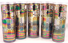 5 Federal Glass Window Pane Carnival Glass Tom Collins Glasses Iced Tea Tumblers