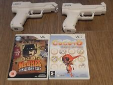 MAD DOG McCREE GUNSLINGER PACK + COCOTO MAGIC CIRCUS+ 2 GUNS=NINTENDO Wii=ZAPPER