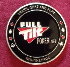 Two Full Tilt Poker (FTP) Metal Chips / Card Protectors. Bulk Available.