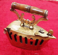 VINTAGE HAND MADE CHARCOAL IRON/PRESS  BRASS PAPER WEIGHT GIFT ITEM BM-197