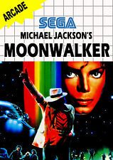A4 Sega Master System Game Poster – Michael Jackson's Moonwalker (Picture Print)
