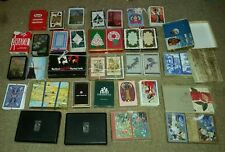 LOT OF 42 decks playing cards KEM ASPREY CASPARI vintage antique OLD ESTATE