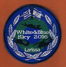 WHITE & BLUE SKY 2016 LARISSA A JOINT IAF AND HELLENIC AIR FORCE EXERCISE PATCH